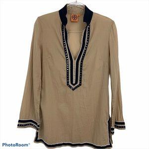 Tory Burch Embellished Tunic Size 8